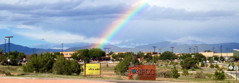rainbow over sfcc
