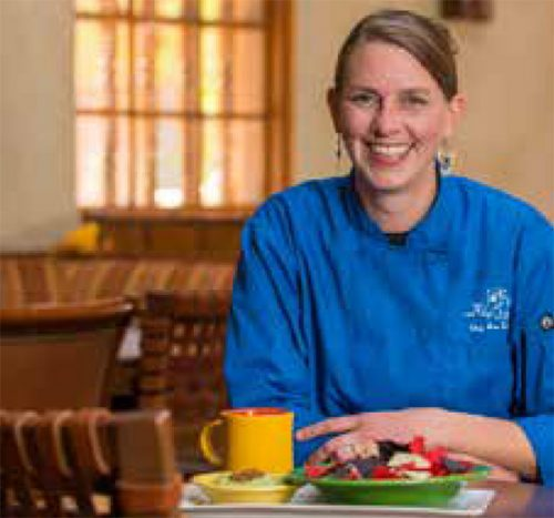 Inn on the Alameda Food and Beverage Manager and Agoyo Lounge Chef Jen Doughty likes the 'creative chaos' of the hospitality industry.