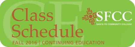 Class Schedule Fall 2016