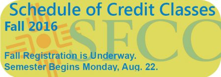 Schedule of Credit Classes Fall 2106