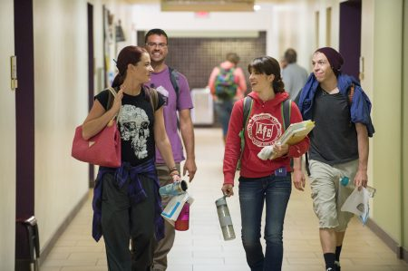 Students Walking in SFCC Hall