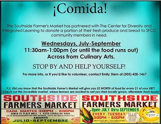 Flyer for Comida food giveaway