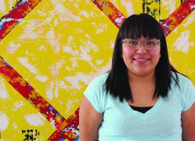 CBT Scholarship recipient Andrea Lomayaktewa