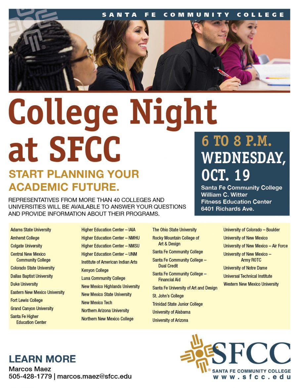 SFCC College Night Flyer