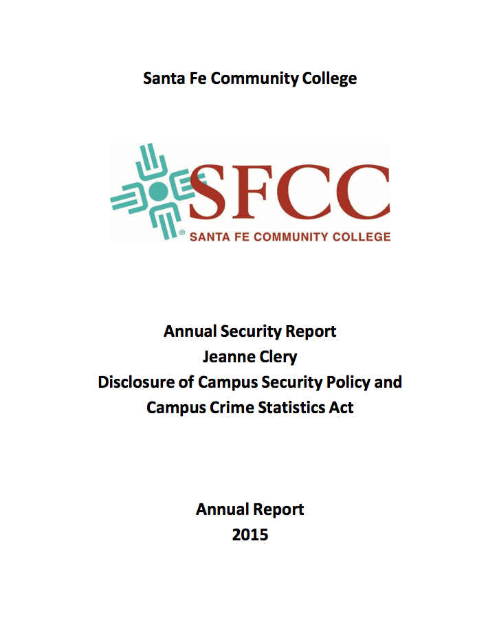 Clery Report Cover
