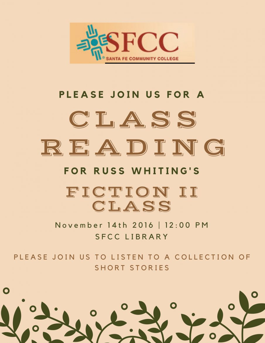 Santa fe community collegefiction ii class presents