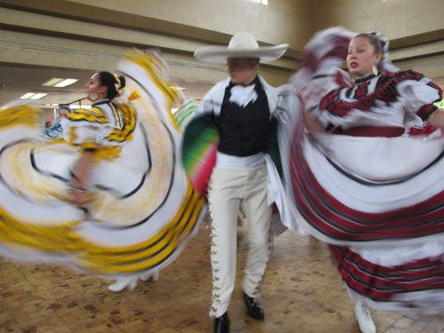 Members of Aspen Ballet Santa Fe's Folklórico dancing group.