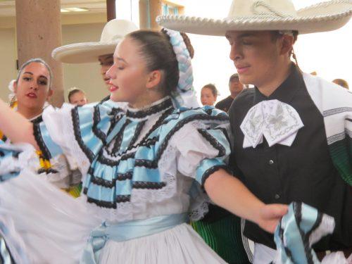 A close-up of Aspen Ballet Santa Fe's Folklórico dancers.