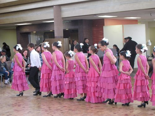 A young group of Aspen Santa Fe Ballet's flamenco dancers entertained at SFCC's National Hispanic Heritage Month's closing festivities.
