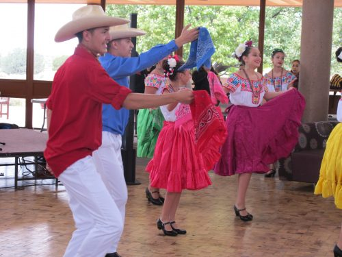 Colorful scarves and skirts flew as members of Aspen Ballet Santa's Folklórico  dancers entertained.