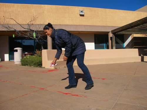 Reyna Varela (SFCC Lead Custodian) participated in the Red Sand Project.