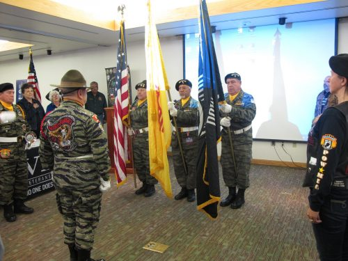 Vietnam Veterans of America, Northern Chapter 996 Presentation of Colors at Santa Fe Community College for Veterans and Family Appreciation Day.