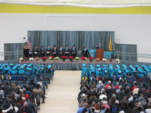 Congressman Ben Ray Luján addresses the Fall 2018 graduates.