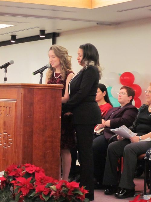 Class speakers Heather Galeano and Marlena Lewis talked to the graduates and their families about their journeys to the day they were pinned.