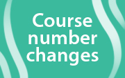 Course Numbering Changes