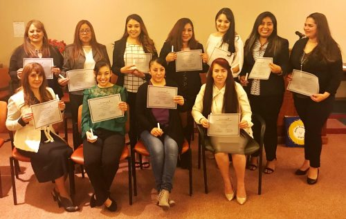 Participants in the Spanish Early Childhood program who were inducted into Phi Theta Kappa.
