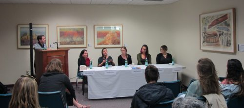 Participants in the panel included Julia Goldberg, Jennifer Love, Kate McCahill, Jade McLellan and Alisa Valdes.