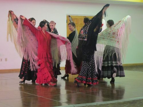 SFCC's flamenco class danced, led by instructor