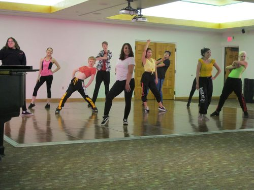 The Hip-Hop Dance class danced a high-energy number choreographed by their instructor Tina Anderson.