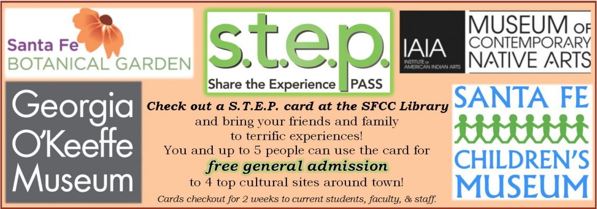 Share the Experience Passes available at the SFCC Library!
