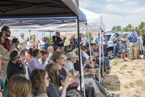 Community members viewed the groundbreaking ceremony.