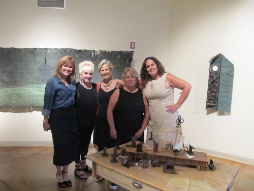 DWELL artists from left to right: Amy Parrish, Patricia Pearce, Anne Laser, Rebecca Bradshaw and Julie Nocent Vigil.