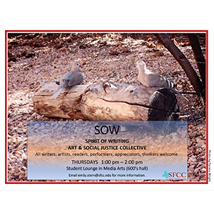 SFCC Spirit of Writing (SOW) art and social justice collective meeting