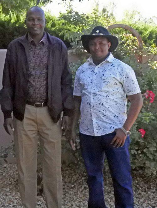 Stanley Kiptis, Governor of Baringo County and Hillary Songoyo, Chief of Staff to Governor Kiptis