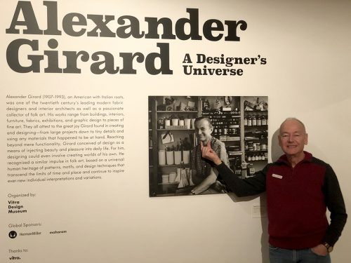 David Jones at the Alexander Girard exhibition.