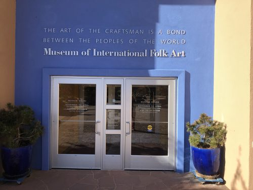 The entryway to the Museum of International Folk Art.  The museum presented the symposium in conjunction with the current exhibition.
