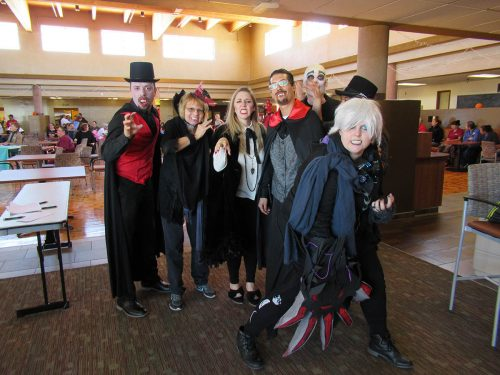 Carpathian Coven (aka Marketing & MPR) won the costume prize for best group.