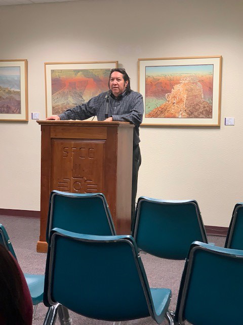 Marvin Galbadon at the Spirit of Writing Art (SOW) and Justice Collective Reading.