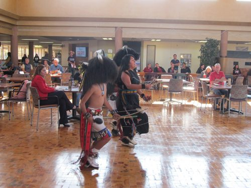 Buffalo Dance done by a group from Santa Clara and Hopi dancers at SFCC.