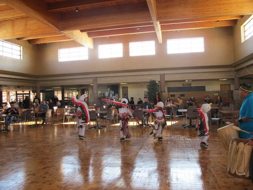 Eagle Dance done by a group of Santa Clara and Hopi dancers at SFCC for Native American Heritage Month..