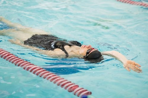 A swimmer in SFCC's pool at the William C. Witter Fitness Education Center