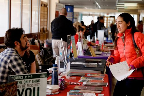 Transfer Day gives students the opportunity to speak to representatives from a variety of colleges.