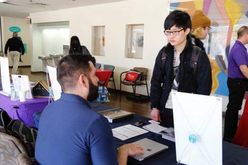 Transfer Day offers students an opportunity to have conversations with representatives of a variety of universities and colleges.