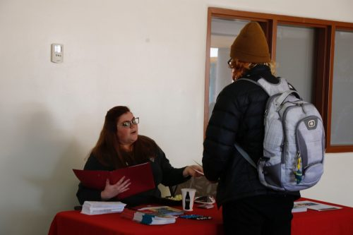 The University of New Mexico representative spoke to many students on Transfer Day.