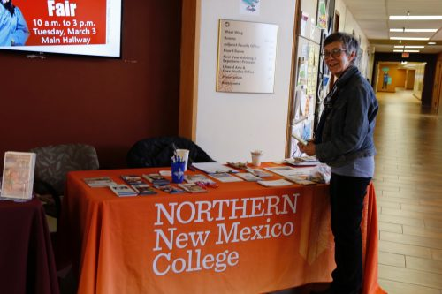 Northern New Mexico College, which is one of the college's partners at the Santa Fe Higher Education Center, participated in Transfer Day.