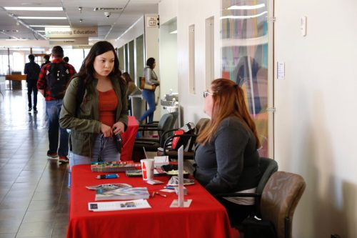 Transfer Day gives students the opportunity to talk about their concerns regarding transfer requirements.
