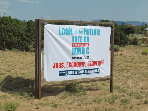 Sign at SFCC for the upcoming Nov. 3, 2020 election.
