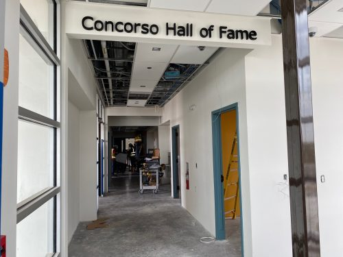 ATC Main Entry Corridor, Concorso Hall of Fame will have donated car memorabilia on display