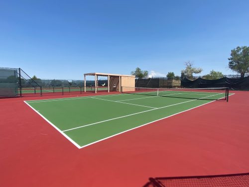 FEC Tennis Court Resurfacing (screens yet to be replaced)