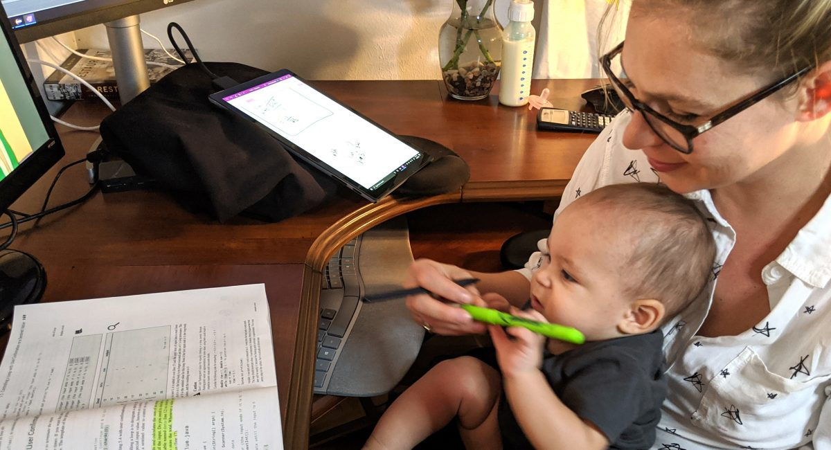 Financial, academic support boosts new mother