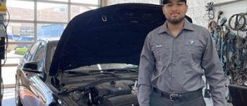 Rodolfo Torres Minjares Auto Tech student at Santa Fe BMW