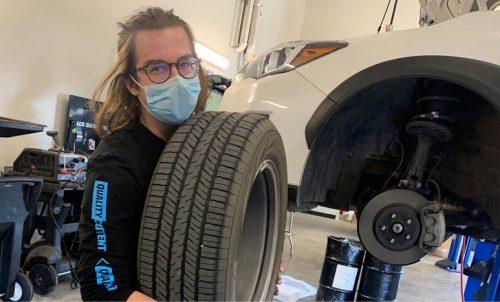 Auto Tech student Joseph Roark interns at Subaru