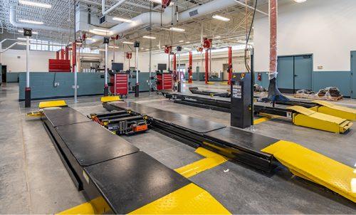 Auto Tech Program vehicle lifts