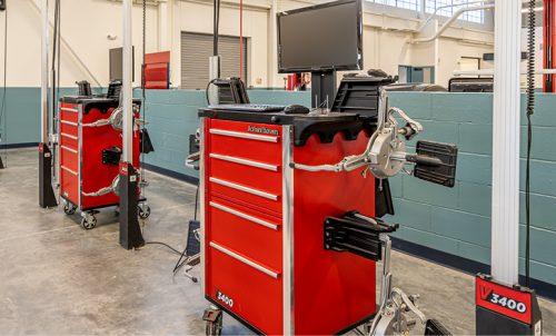 Auto Tech Program digital diagnostics station