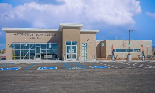 Main entrance of the Automotive Technologies Center