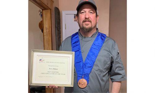 Jerry Dakan with NM Chef Educator Award